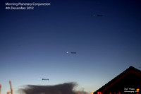 Morning Planetary Conjunction 4th December 2012